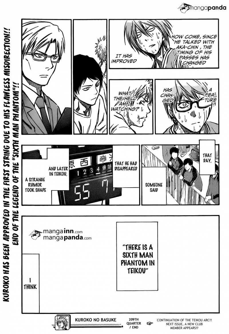 Kuroko no Basket Manga Chapter 209 - Image 19