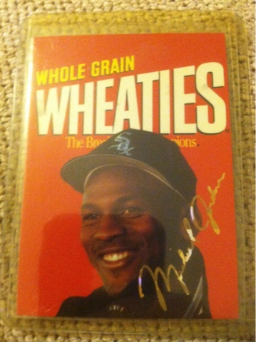 Toppsfreak Michael Jordan Wheaties Baseball Card