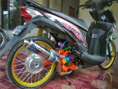 Deskripsi Gambar Foto Modifikasi Honda Beat Drag :