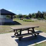 Picnic table and cooking area