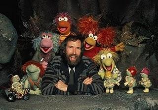 """Jim Henson con los protagonistas de """"Fraggle Rock"""", otra serie de éxito en los '80"""