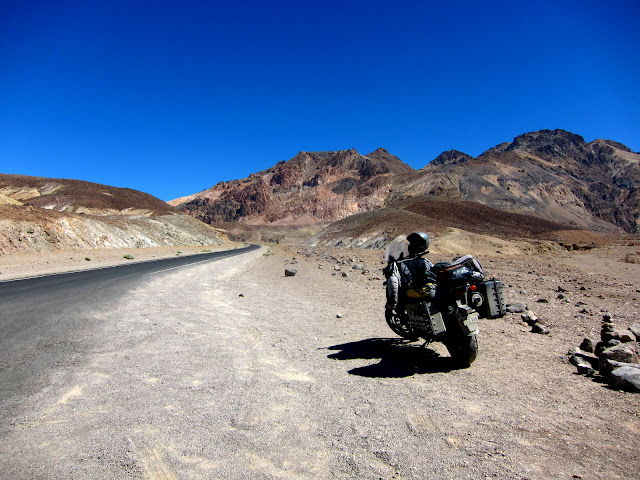 My Motorcycle On Artists Drive in Death Valley
