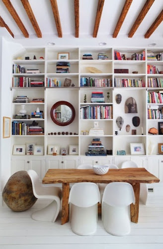 Interior Design Home Decor Rustic White Scandinavian style library