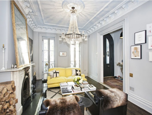 jenna lyons home brooklyn townhouse interior design home decor living room
