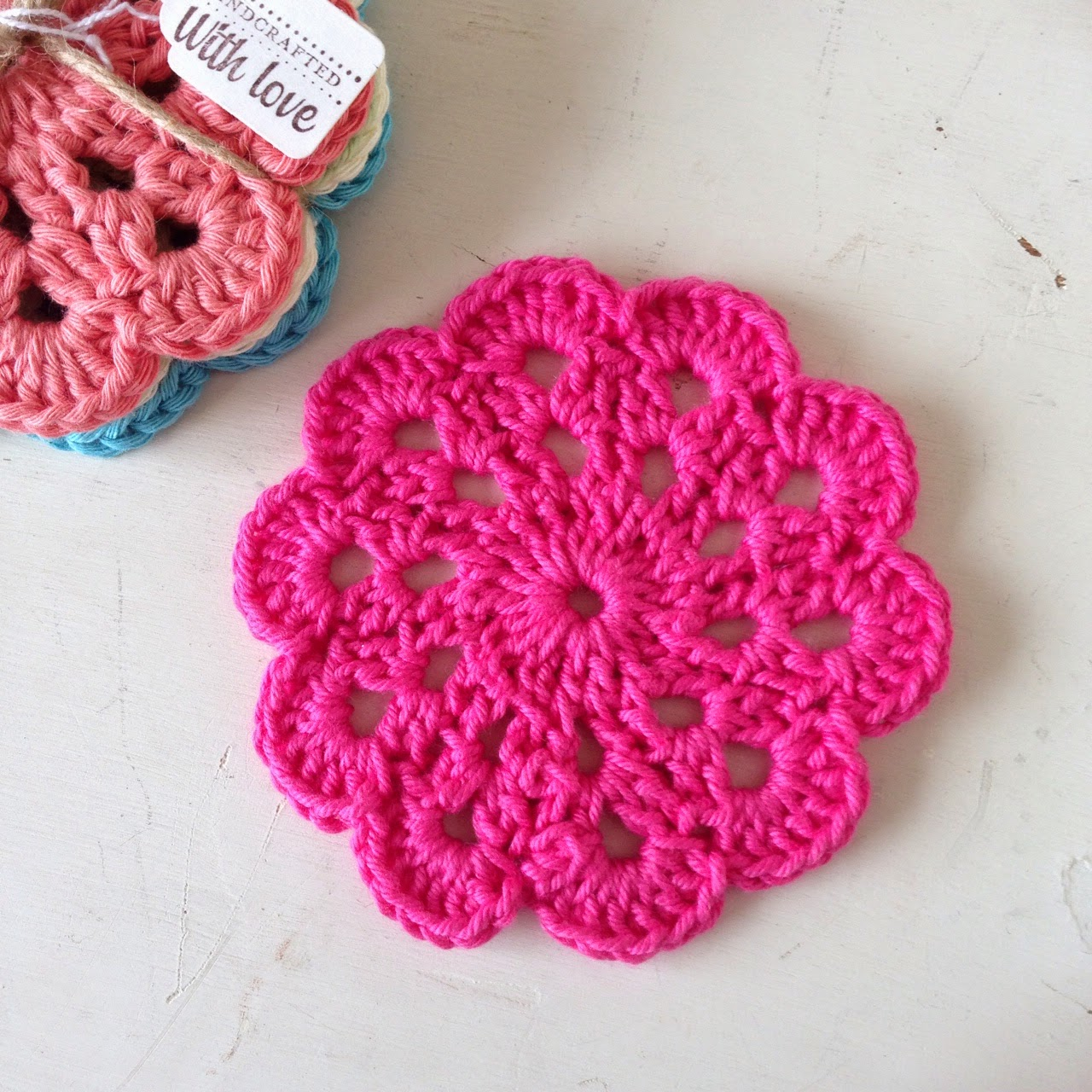 A World of Imagination: Mixing It Up......some crochet coasters.