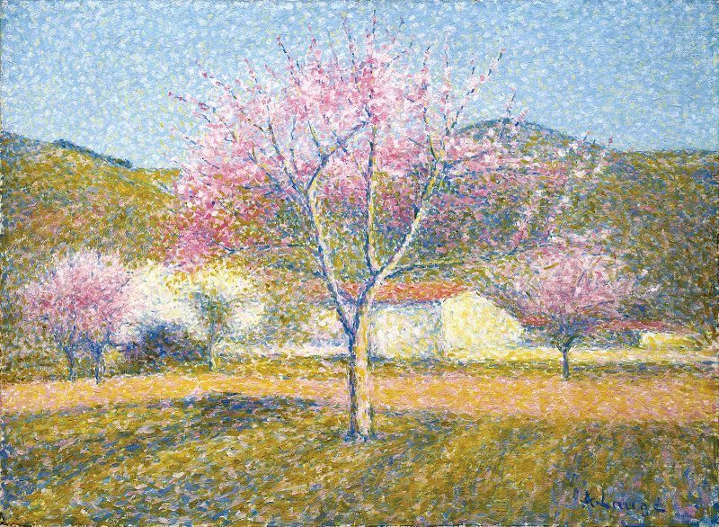 Achille Laugé - An Orchard in Springtime (Apple Trees in Bloom)