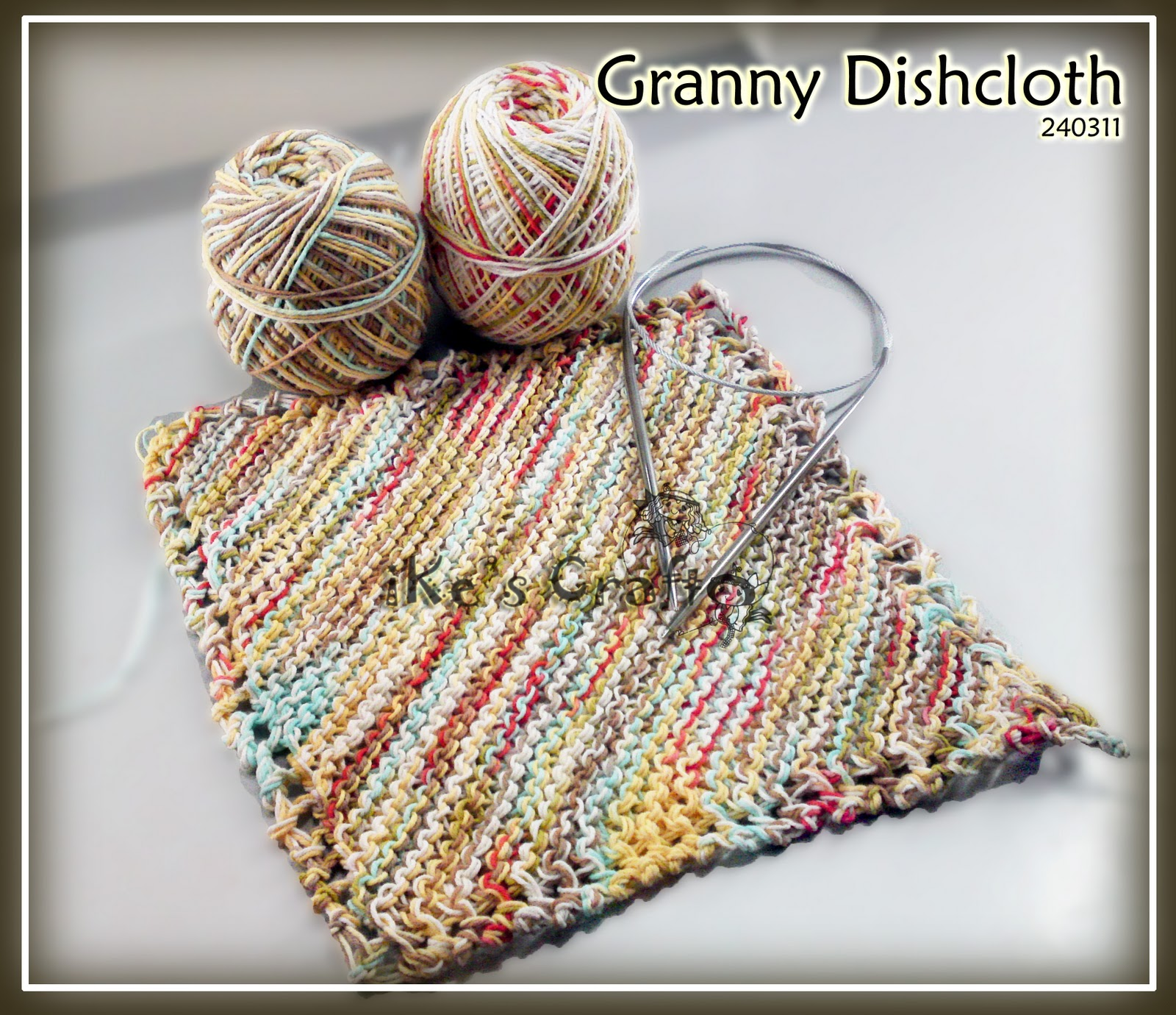 Knitting Granny Dishcloth : It s ike world another skill sharpening day