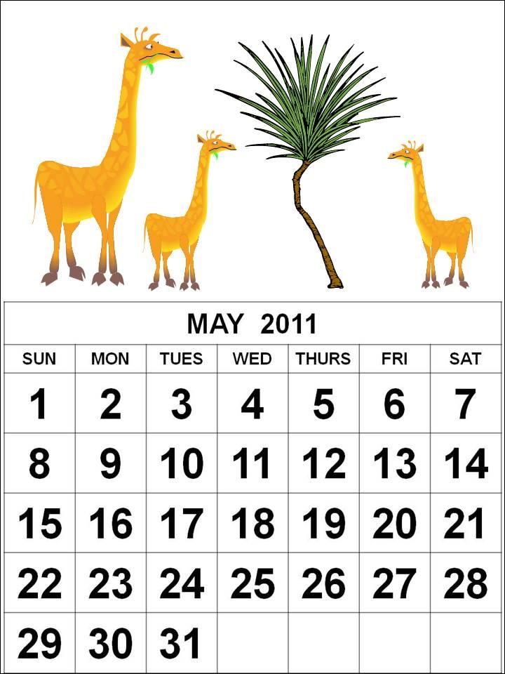may calendar 2011. hairstyles may calendar 2011