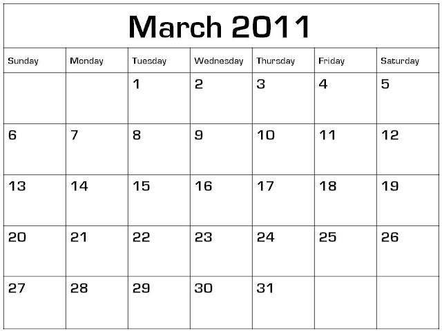 blank calendars to print. lank calendar,marchthe