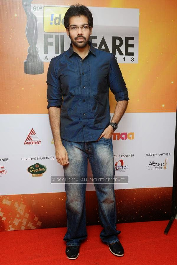 Sibiraj at the 61st Idea Filmfare Awards South, held at Jawaharlal Nehru Stadium in Chennai, on July 12, 2014.