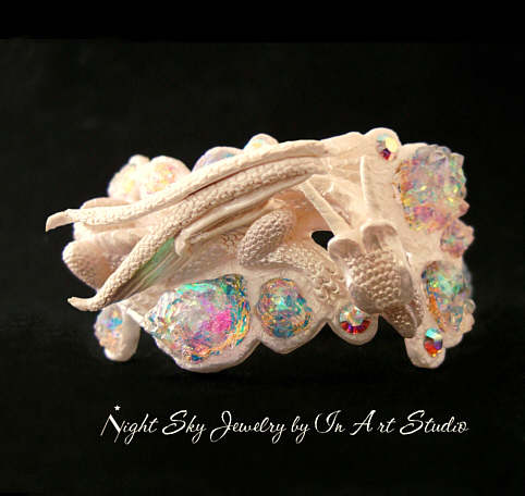 Fantasy Dragon Bracelet In Pearl