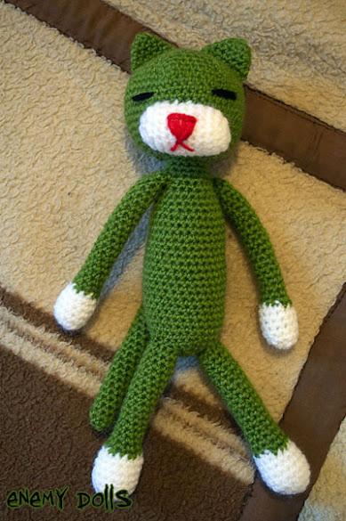 amineko verde amigurumi green