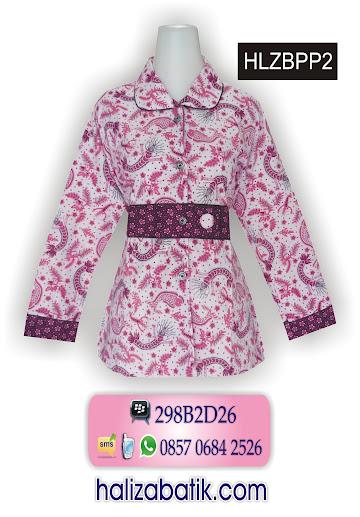 mode batik, blus batik wanita, batik modern