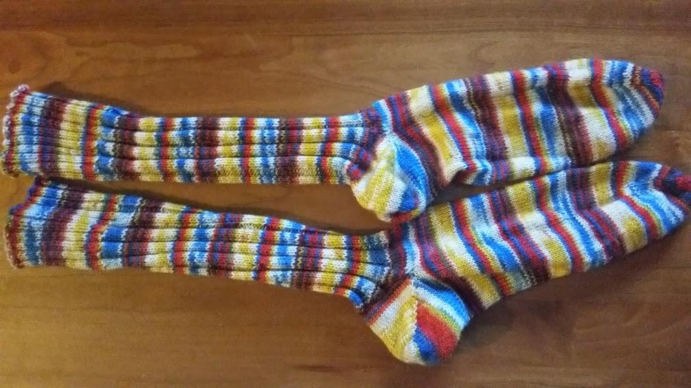 Duncan's homemade socks