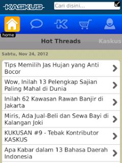 KASKUS v0.9.1 BlackBerry App