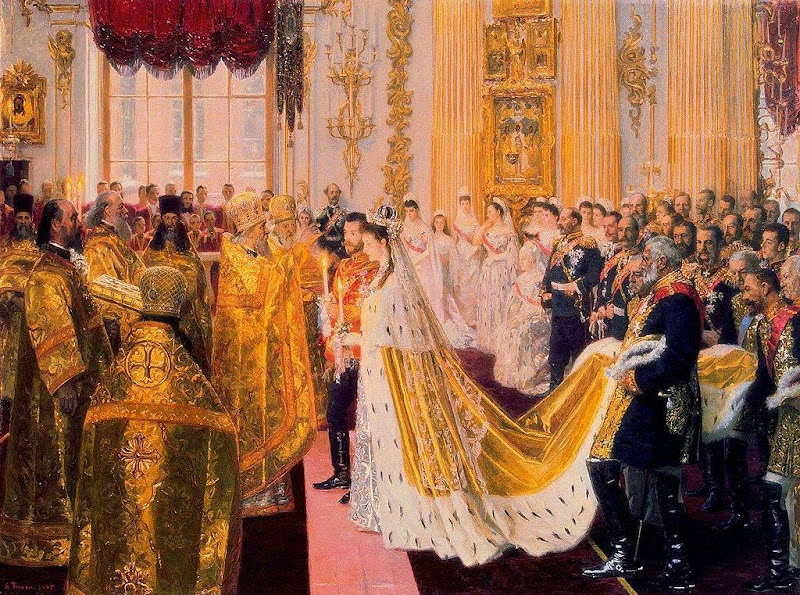 Laurits Tuxen - The Wedding of Tsar Nicholas II (1895)