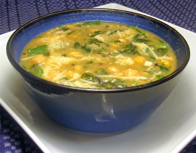 ... Recipe #248: Portuguese-Style Chickpea & Spinach Soup (Sopa de Grão