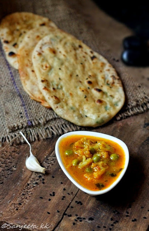healthy vegetarian recipes, indian flat bread and curries