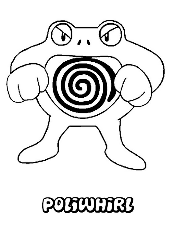 Poliwhirl pokemon coloring pages