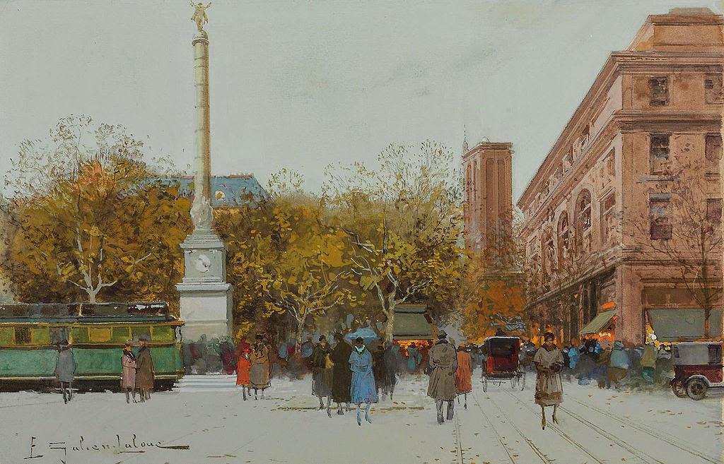 Eugène Galien-Laloue - Paris Place du Châtelet