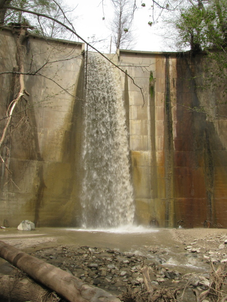 The debris dam.
