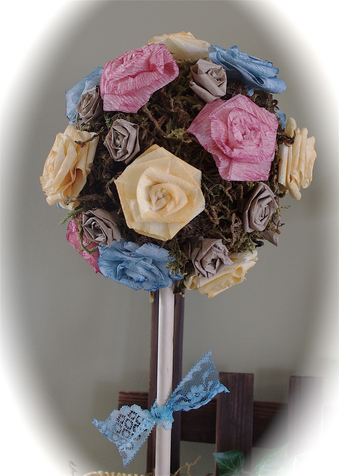 Creative Tryals Easter Decorations Pastel Flower Topiary Tree