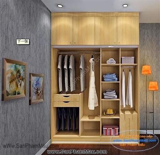 Các mẫu tủ quần áo bằng gỗ công nghiệp-1