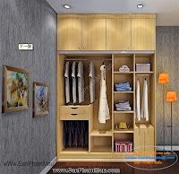 Các mẫu tủ quần áo bằng gỗ công nghiệp