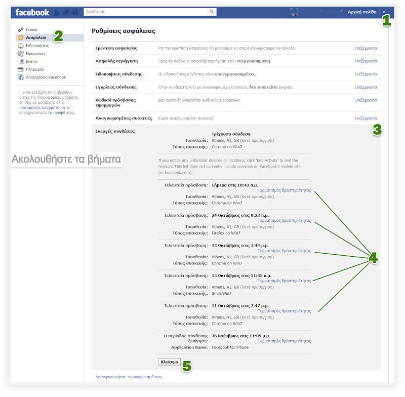 Αποσύνδεση από το Facebook