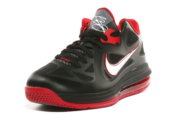 info for 699c8 08e7a First Look Nike LeBron 9 Low 8220Black White Red8221 ...