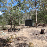 Pit Toilet at Running Waters Camping area