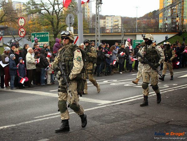 Grupy rekonstrukcyjne na paradzie niepodległości w Gdyni
