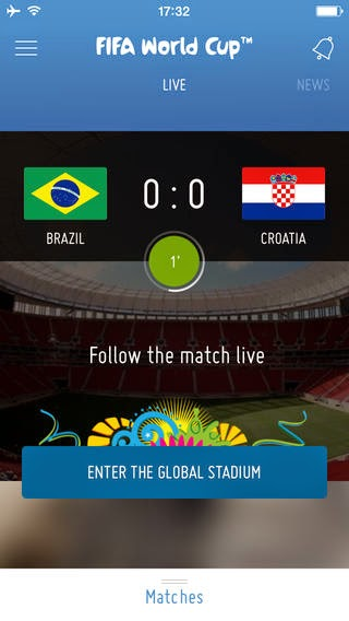fifa world cup smartphone app score view