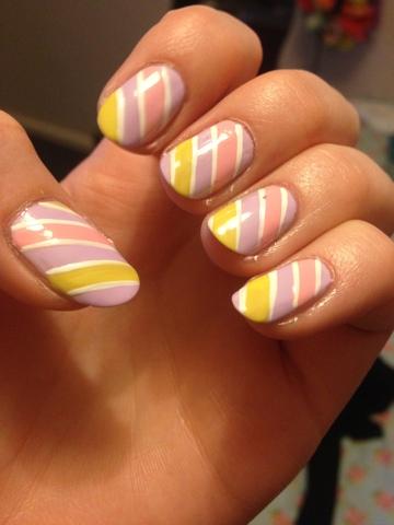pastel, nail art, stripes, models own, candy
