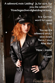 captioned image of a German safeword