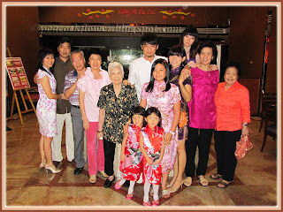 Group photo of family members, relatives and friend at lobby, just outside Benteng Coffee House