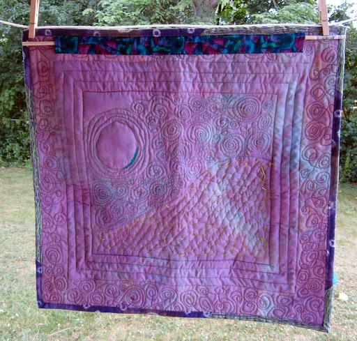 sea turtle quilt, back