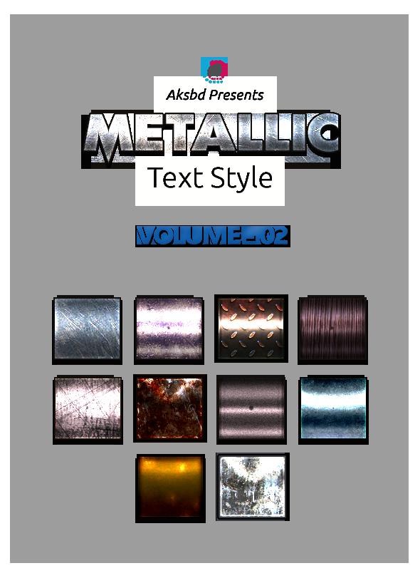 Metallic Text Styles (Vol-2)