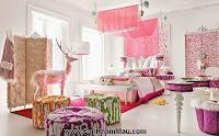 """Căn phòng ngủ """"đỏng đảnh"""" khiến các """"công chúa nhỏ"""" thích mê"""