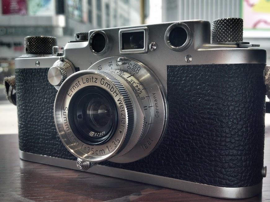 Leica III C+leica 35mm f3.5 L39古董相機試玩