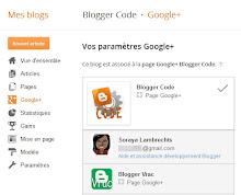 Choisir une page Google+ depuis l'interface Blogger.
