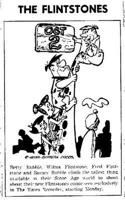 Anuncio en prensa de The Flintstones