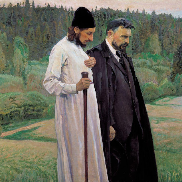 Mikhail Nesterov - Philosophers (Portrait of Pavel Florenskiy and Sergey Bulgakov)
