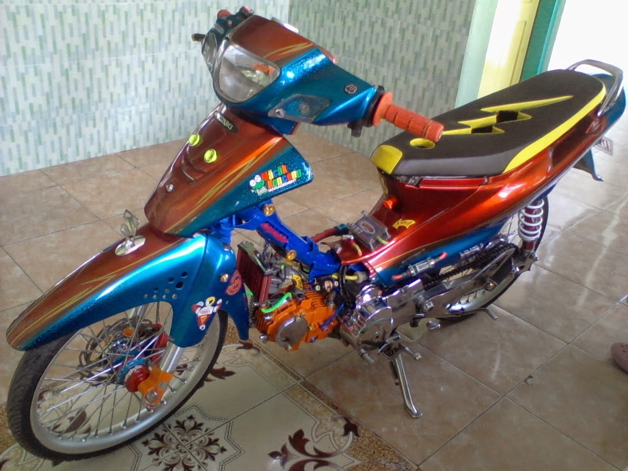 Foto Modifikasi Motor Suzuki Shogun R Modifikasi Motor