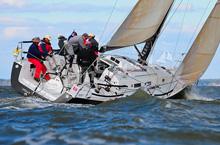 J/122 sailboat- Christopher Dragon- sailing Storm Trysail IRC East Coasts- Annapolis, MD
