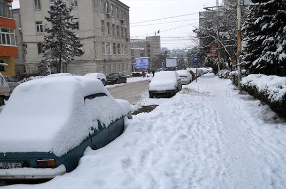 Suceava, acoperită de zăpadă - 4 februarie 2012