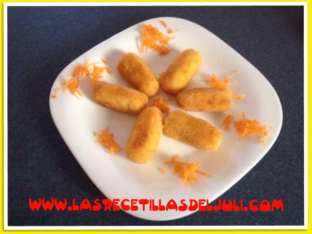 Unas croquetas diferentes: de zanahoria
