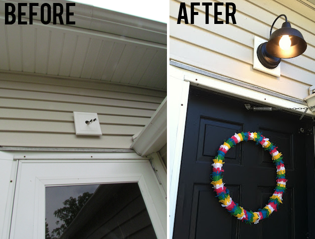 Front Door Makeover With Ge Lighting White House Black