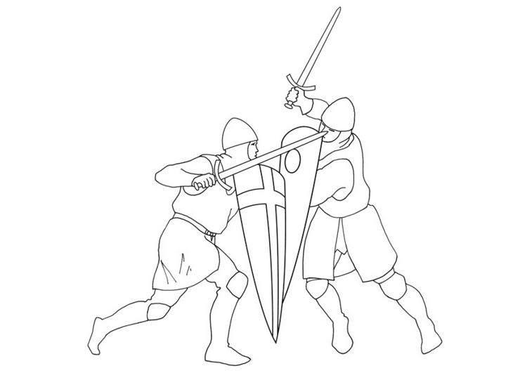 crusades coloring pages