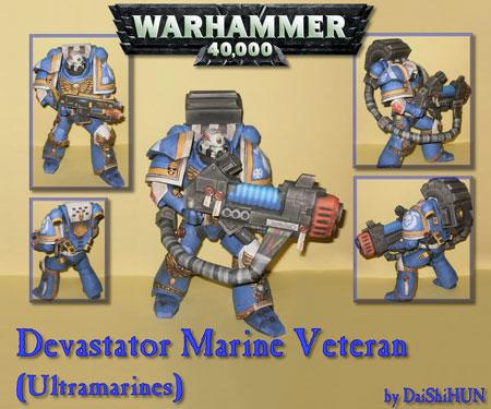 Warhammer 40k Papercraft Devastator Marines